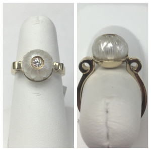 14K Yellow Gold Galatea Sculpted Pearl Ring Size 6 Original Price: $1095 Sale Price: $699