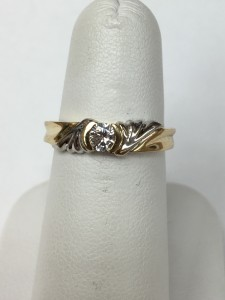 14K Two Toned Diamond Ring Size 6.25 .23 ct round diamond Original Price: $999 Sale Price: $599