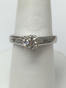 Platinum Diamond Engagement Ring Size 7.25 .55 ct fiery diamond Original Price: $3999 Sale Price: $1999